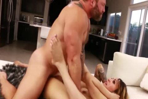 Petite Tattooed shemale Ryder Monroe slammed By Colby