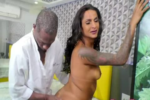 excited tranny Marcela Lima Invites The Gardener In To Take His BBC For A Spin