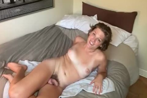 amateur ladyman With hairy 10-Pounder Toying Her ass
